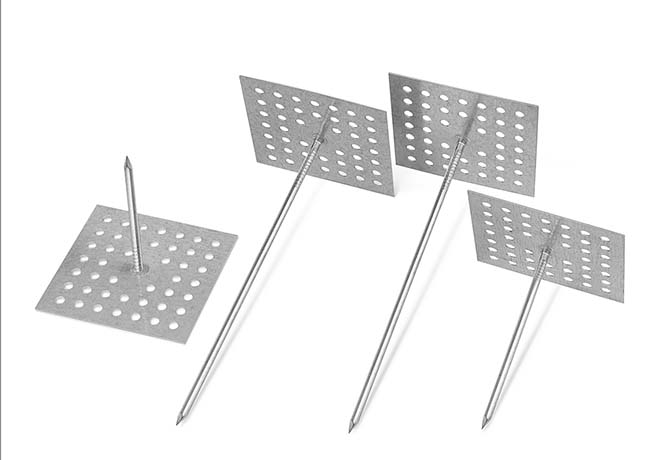 Equipment insulation pins
